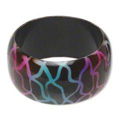 Retro Dark Brown and Neon Ombre 39mm Wide Lucite Acrylic Bangle Bracelet | eBay
