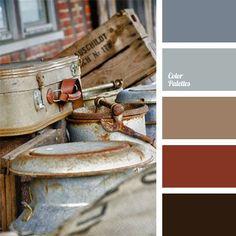 Deep terra-cotta and earth tones with blues palette. Colour Pallette, Colour Schemes, Color Combos, Color Mix, Rust Color, Gray Color, Color Terracota, Grey Home Decor, Color Balance
