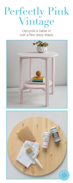 DIY Furniture Flipped Vintage Decor Side Table by Martha Stewart Crafts