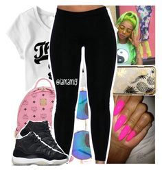 """""""3:33am..goodnight"""" by lamamig ❤ liked on Polyvore featuring Skinnydip, MCM and NIKE"""