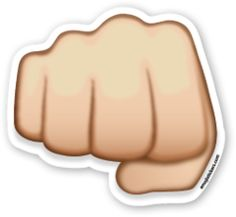 Fisted Hand Sign   Emoji Stickers