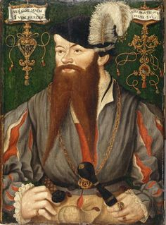 Portrait of Freiburger Doctor Joachim Schiller von Herdern, 1541 (oil on panel)