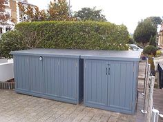 Cycle storage sheds Bristol Bin Storage Ideas Wheelie, Storage Bins, Fresco, Bin Shed, Outdoor Bike Storage, Garden Storage Shed, Storage Sheds, Garbage Shed, Cycle Storage