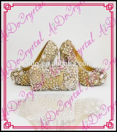 Aidocrystal italian white high heel pump shoes ladies shoes and matching  bags for evening and party 3c3387f661d8