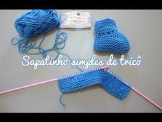 Tutorial - Sapatinho simples de tricô para bebês - faça você mesma