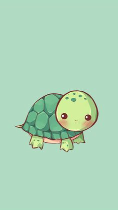 Cute Cartoon Turtle Wallpapers Top Free Cute Cartoon in Cartoon Turtle Wallpapers - Find your Favorite Wallpapers! Cute Turtle Drawings, Cute Animal Drawings, Kawaii Drawings, Cute Drawings, Simple Drawings, Tier Wallpaper, Iphone Background Wallpaper, Aesthetic Iphone Wallpaper, Green Wallpaper