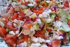 Saláta tzatziki mártással | NOSALTY – receptek képekkel