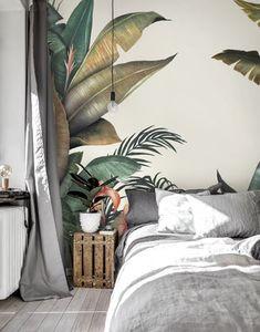 Tropical – popular wall mural – Photowall Tropical Interior, Tropical Wall Decor, Tropical Style Decor, Asian Wall Decor, Asian Home Decor, Tropical Design, European Home Decor, Graphic Wallpaper, Interior Wallpaper
