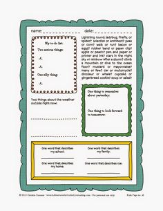 Adventures in Guided Journaling: Printable Journal Page for Kids by Christie Zimmer - No. 5
