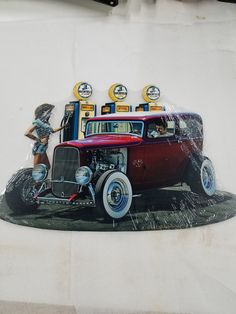 ford coupe hot rod car pinup pin up girl Truck Room, Steel Metal, Pin Up Girls, Pinup, Hot Rods, Monster Trucks, Ford, Products, Cutaway