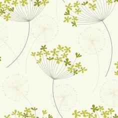 I Love Wallpaper Capri Wallpaper Green / Cream