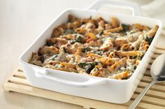 Three-Cheese Chicken Penne Pasta Bake Recipe - Kraft Recipes