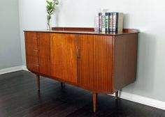 SOLD Vintage Retro Mid Century Modern MCM Dresser Credenza Buffet Console Media Cabinet TV Stand Changing Table Houston Texas