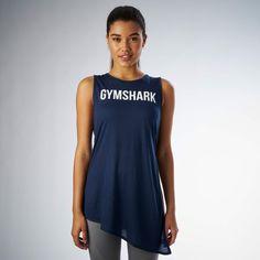 Gymshark Side Tie Vest - Sapphire Blue