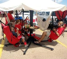 """Now this is what you would call """"made in the shade"""" tailgating."""