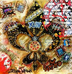 The Year the Saints Went Marching In  : Mixed Media for GCCA 2012-https://www.etsy.com/shop/ErikaJohnsonGallery-www.erikajohnsoncreations.com-Fluer De Lis-Mississippi Artist Erika Johnson-Mardi Gras