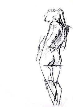 Items similar to Nude Charcoal Drawing - Custom x Figure Drawing - Romantic Christmas Gift - Gift For Husband on Etsy Gesture Drawing, Life Drawing, Figure Drawing, Drawing Sketches, Painting & Drawing, Art Drawings, Drawing Pro, Sketch Art, Sketching