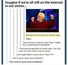 Still on the internet, 40 years later... the part about sherlock series 3 had me laughing and sobbing. well done.