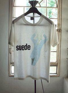 Vintage 90's Suede animal nitrate band t-shirt brett anderson britpop pulp elastica tour. $250.00, via Etsy.