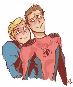 Marvel Universe - Peter Parker x Johnny Storm - Spideytorch