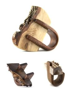 Gustav Reyes Rings  |  The Woodlot  | Contexture  |  These are raw wood pieces by the Chicago Jeweller.