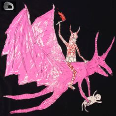 If I ever got a Neckface tattoo it would have to be this. Who wouldn't want a pink dragon permanently decorating their body? Pink Dragon, Dragon Rider, Perfect Pink, My Tea, Jewelry Patterns, Tea Party, Pattern Design, Typography, Tattoos