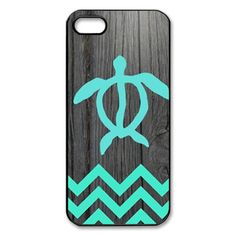 Artsalong Cute Teal Hawaiian Turtle Honu On Dark Wood Plastic Skin Snap-on Case for Apple iPhone 5s 4s 5C Cases Shell Free Ship
