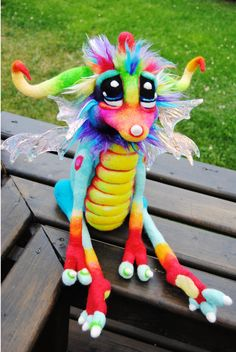 Rainbow Tingle-fruit Dragon by Tanglewood-Thicket.deviantart.com on @deviantART