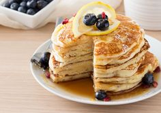 Lemon Ricotta Pancakes | Soft and fluffy ricotta pancakes infused with great lemon zest flavor... perfect for a special occasion breakfast, but easy enough to make every day! | http://thechunkychef.com