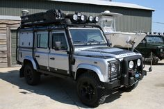 Land Rover Defender 110. VERY well sorted for overland travel!