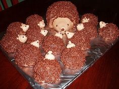 hedgehog cakes