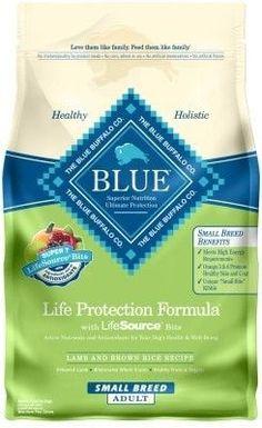 BLUE BUFFALO DOG DRY - BLUE SMALL BREED ADULT LAMB - 6LB - BLUE BUFFALO COMPANY - UPC: 840243105670 - DEPT: BLUE BUFFALO