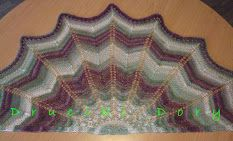 szal / chusta / druty / shawl / knitting / Druciki Dory