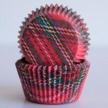 Mary Tartan Designer Cupcake Liners
