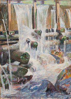 PEKKA HALONEN, MYLLYNRÄNNI. Scandinavian Paintings, North Europe, Bukowski, Vintage Artwork, Modernism, Finland, Oil On Canvas, Auction, Museum