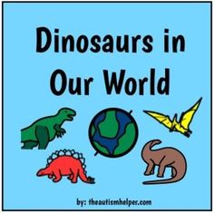 Adapted Dinosaur Book! Great for Children with Autism! by theautismhelper.com