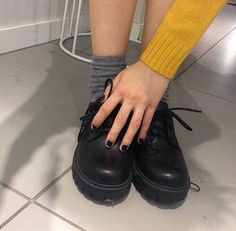 gambar grunge, shoes, and yellow Outfit Designer, Designer Boots, Red Doc Martens, Doc Martens Outfit, Gothic, Style Grunge, Soft Grunge, Mellow Yellow, Mustard Yellow