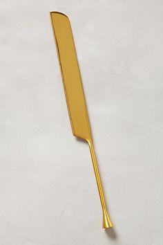 Slide View: 1: Gilded Cornet Cake Knife