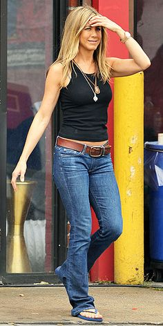 0f22628da4 darkwash bootcut jeans with tank and long skinny necklace + belt Love Her  Style