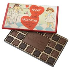 Cute Doctor Nurse retro Valentine chocolate - tap, personalize, buy right now!