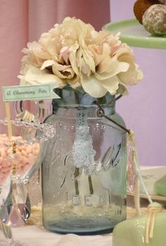 """Photo 1 of 16: Vintage Shabby Chic / Bridal/Wedding Shower """"Vintage, Shabby Chic Dessert Table, by A Charming Fête"""" 