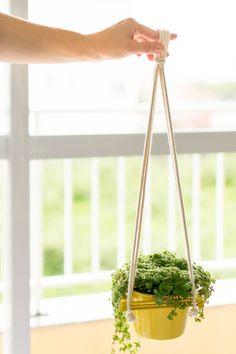 Ideia para pendurar planta | A Parede Indecisa