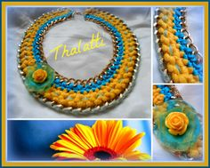 Statement necklace-yellow daisy!!!