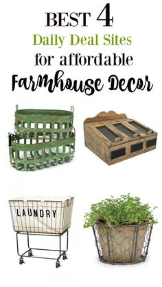 Mini guide on where to shop for affordable farmhouse decor!