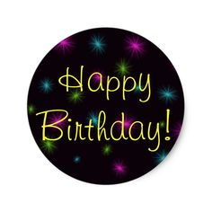 Classic Round Sticker created by Personalize it with photos & text or purchase as is! Happy Birthday Logo, Birthday Clipart, Happy Birthday Parties, Happy Birthday Images, Birthday Pictures, Birthday Greetings, Happy Birthdays, Boyfriend Birthday Quotes, Cute Frames
