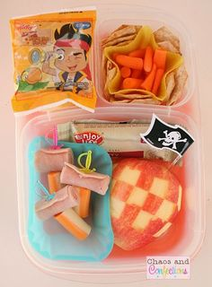Other Pirate Lunches - A #gluten-free, #soy-free, #nut-free, #peanut-free, #egg-free preschool pirate lunch in our @EasyLunchboxes