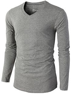 H2H Mens Casual Slim Fit Long Sleeve V-neck T-Shirts Of V... http://a.co/bouP0Pe