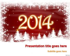 free new year 2014 powerpoint template is ideal to share your new year resolution set