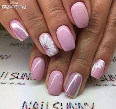 ideas for nails sencillas gelish Frensh Nails, Cute Nails, Glitter Nails, Pink Glitter, Shellac Nail Art, Matte Nail Polish, Pointy Nails, Nail Art Diy, Coffin Nails