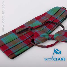 Lindsay Ancient Tartan Cummerbund and Bow Tie Set. Free worldwide shipping available